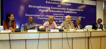 A panel discusion at the University of North Bengal in Siliguri