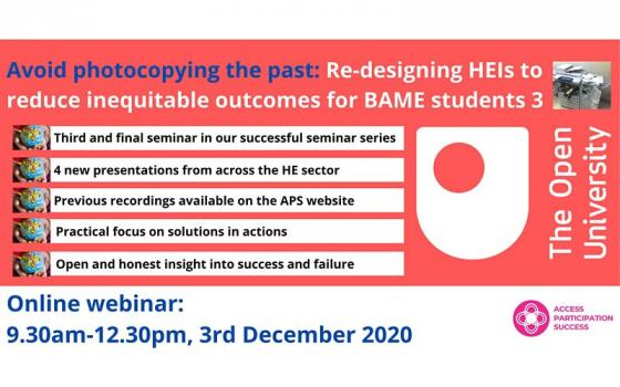 OU APS Webinar: 'Avoid photocopying the past'