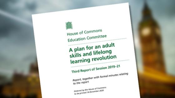 """House of Commons """"plan for an adult skills and lifelong learning revolution"""""""