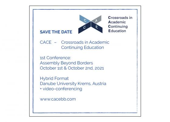 Invitation/Call for Ideas: CACE Assembly Beyond Borders | October 1-2, 2021