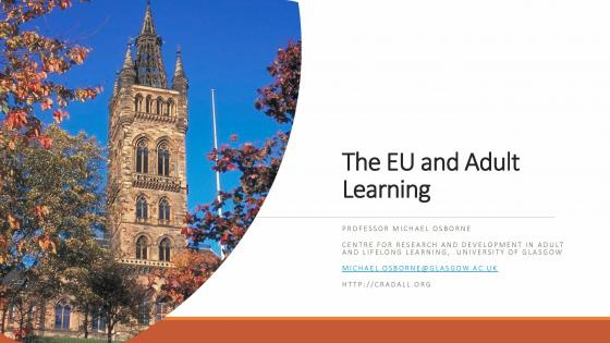 The EU and Adult Learning
