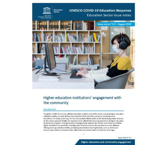Higher education institutions' engagement with the community during COVID-19 | UIL