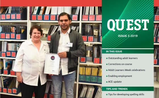 New issue of Quest - outstanding learners, pathway programs, social enterprises