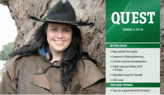Inspiring stories of lifelong learning from around Australia: Quest magazine - ALA Member News, July 2018