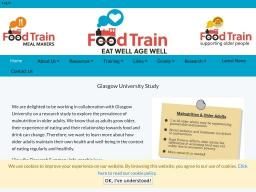 University of Glasgow - Food Train Partnership Project for 'Eat Well Age Well'